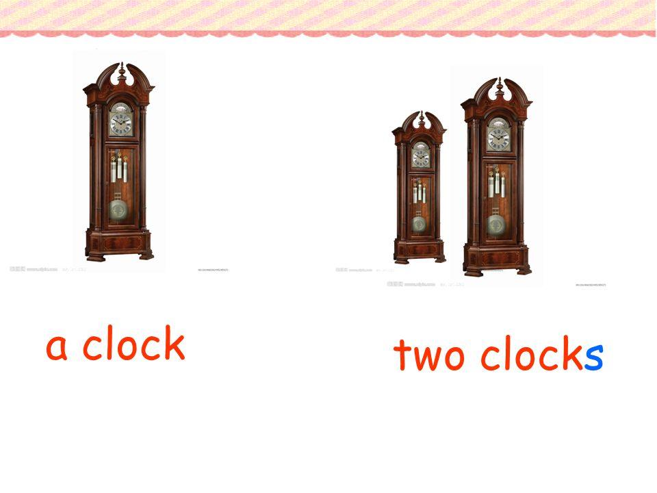 a clock two clocks