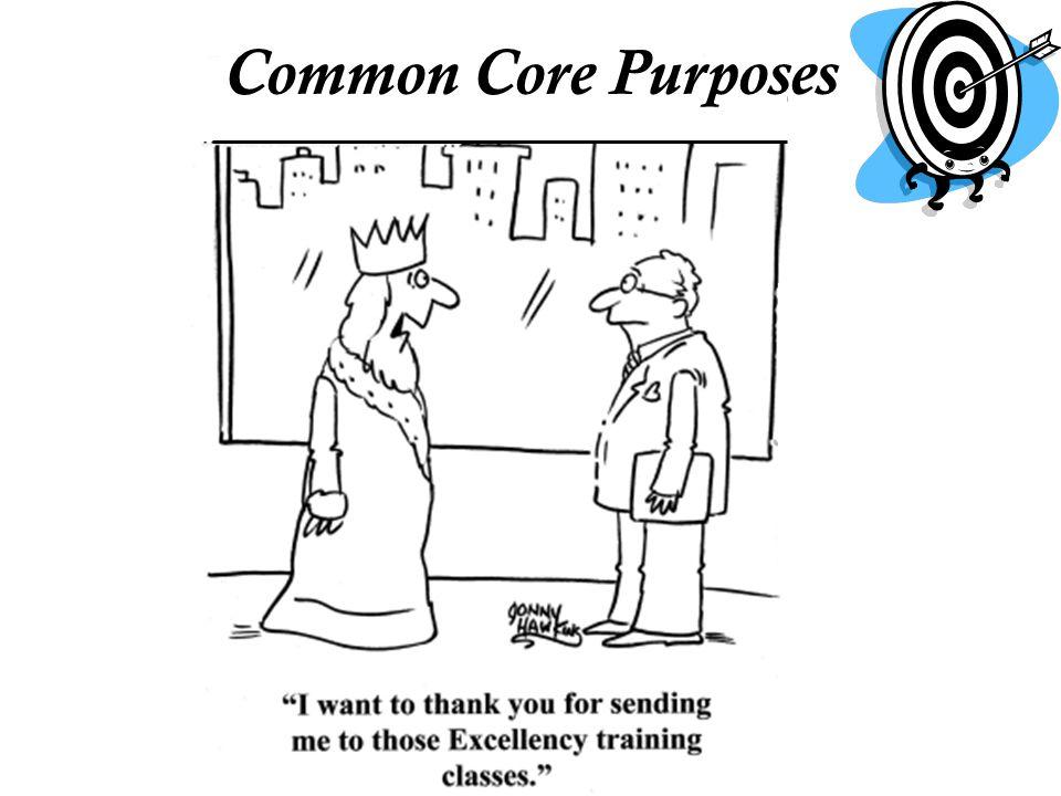 Common Core Purposes