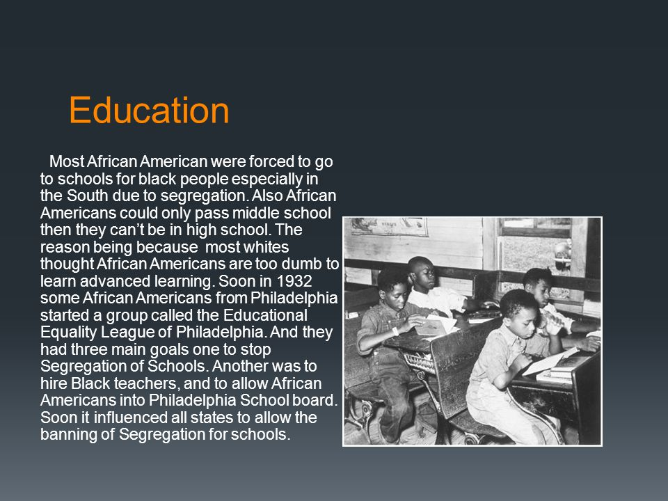 Rights  Most African Americans did not have many rights as much as whites because most whites were racist and especially in the south where there is a lot of Segregation.