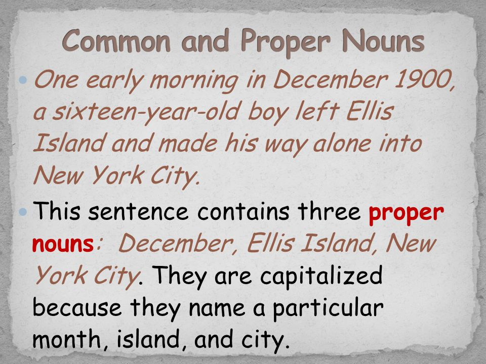 One early morning in December 1900, a sixteen-year-old boy left Ellis Island and made his way alone into New York City. This sentence contains three p