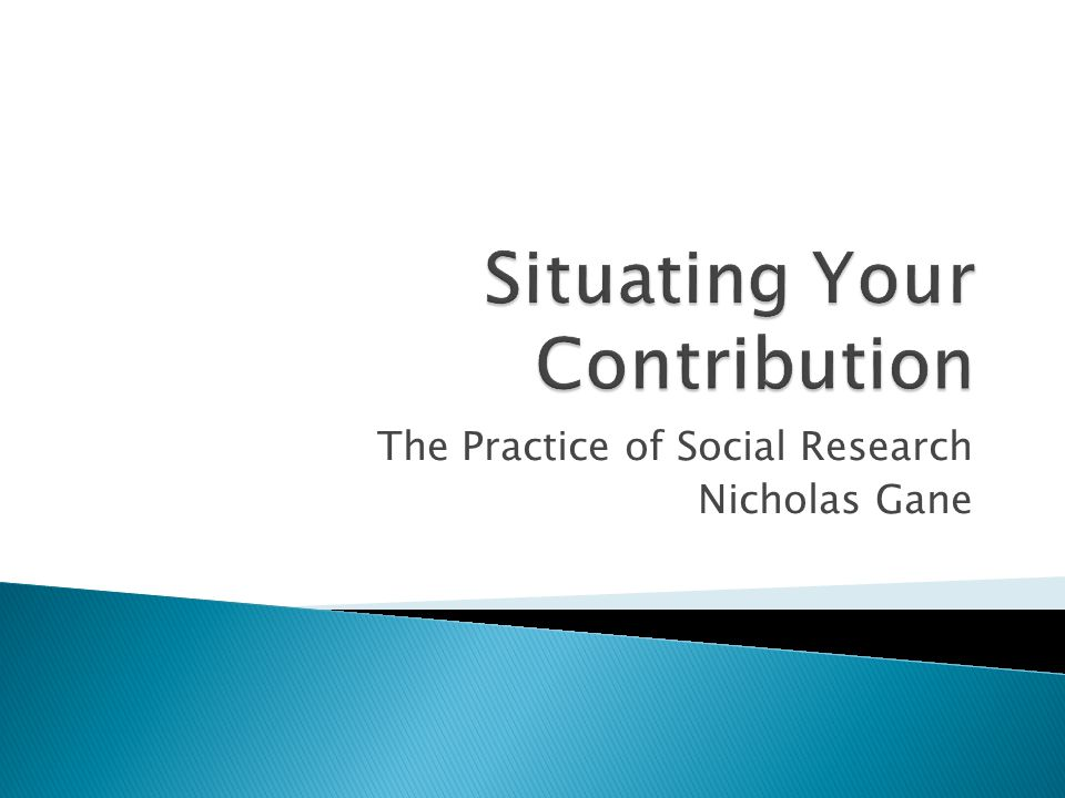 The Practice of Social Research Nicholas Gane
