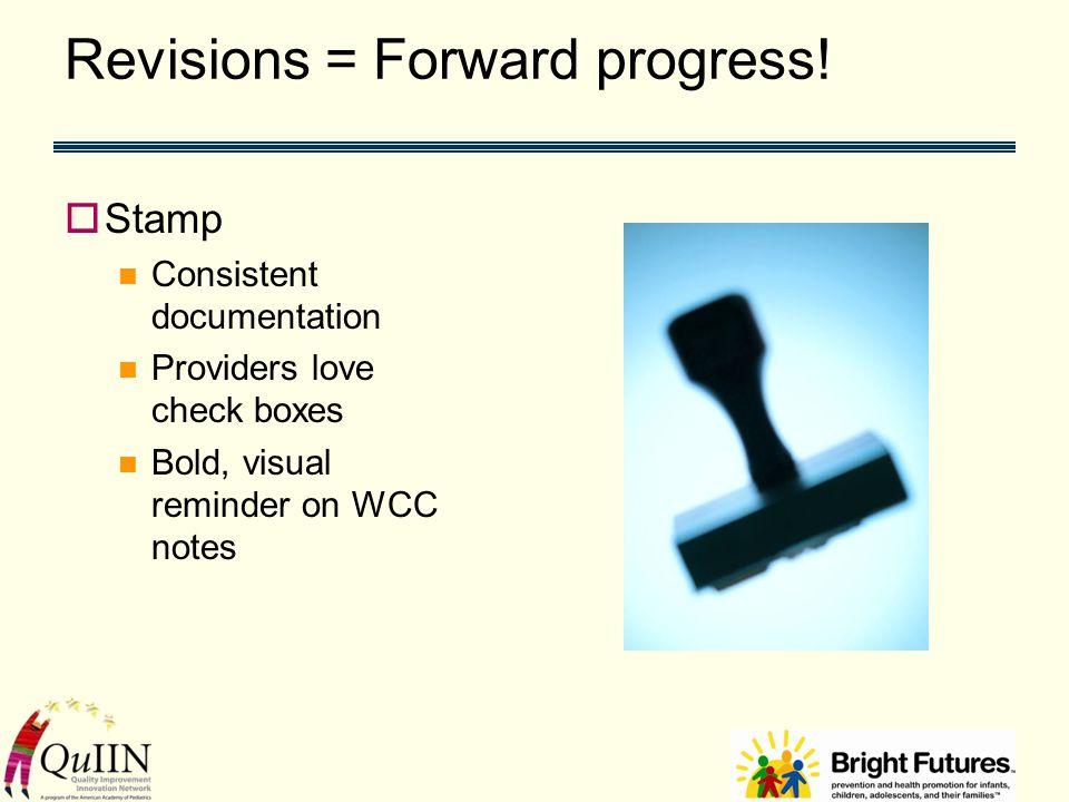 Revisions = Forward progress.