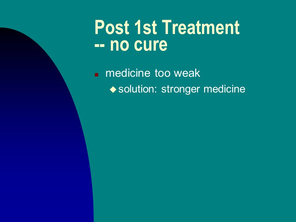 Post 1st Treatment -- no cure