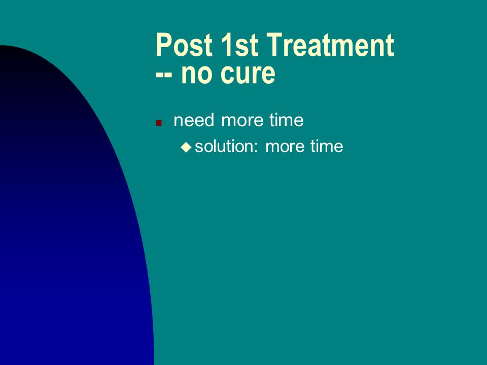 Post 1st Treatment -- no cure n other's power overriding or interfering u solution: talk with them about that