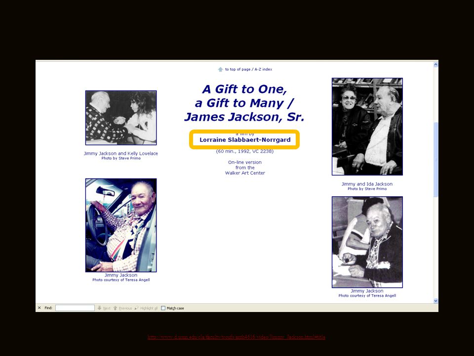 Anishinabe n James Jackson, Sr. u A Gift to One, a Gift to Many / James Jackson, Sr. (1913 – 1992) A Gift to One, a Gift to Many / James Jackson, Sr.