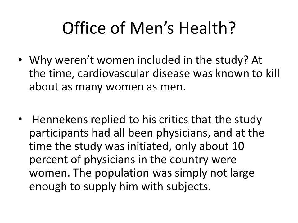 Office of Men's Health.