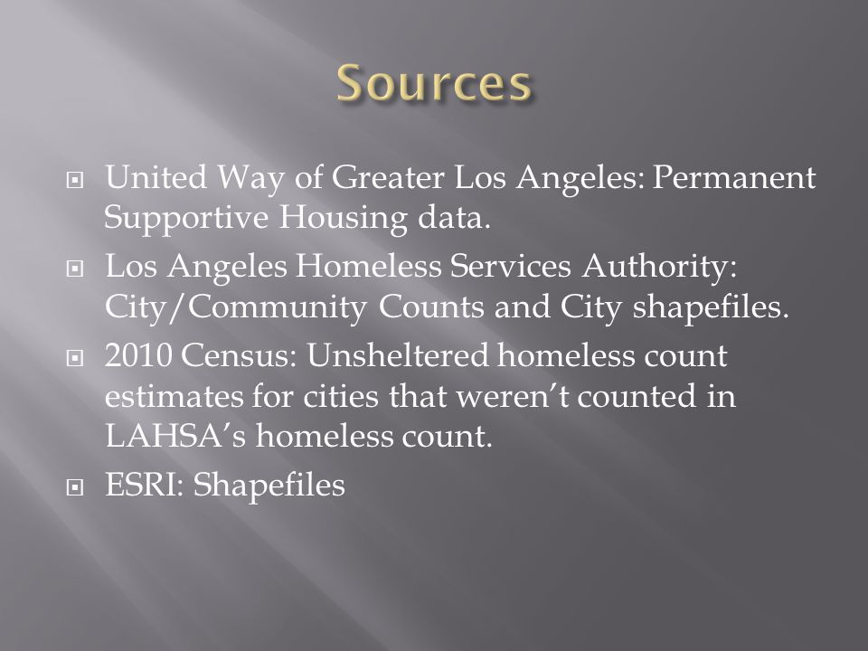  United Way of Greater Los Angeles: Permanent Supportive Housing data.