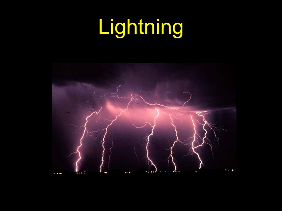 Facts about lightning 80% of lightning is from cloud-to-cloud.