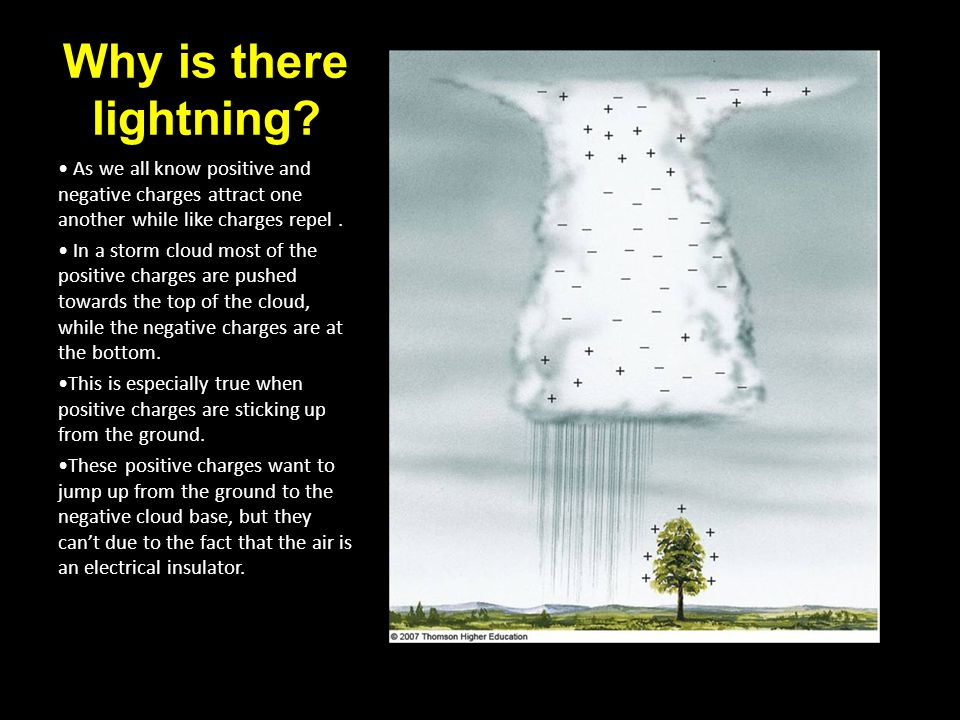 Stages of a Lightning Strike 1.Stepped Leader The strong attraction between the cloud and the ground produces a large electrical field.