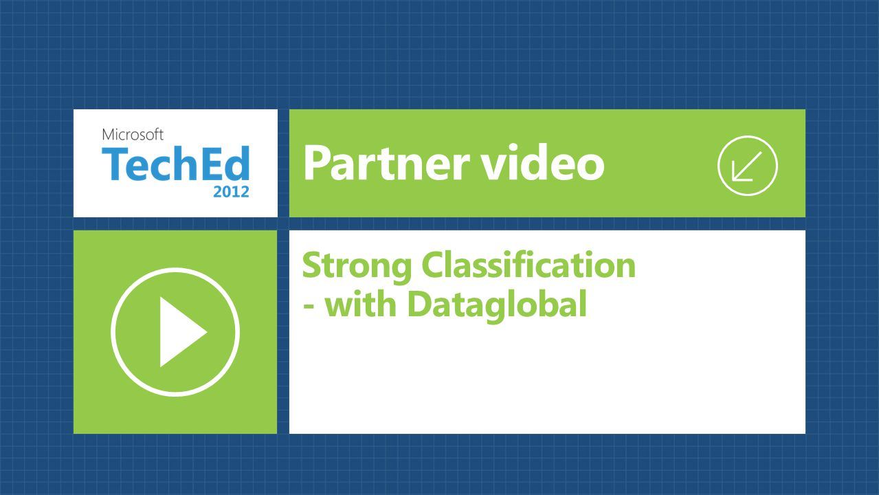 Partner video Strong Classification - with Dataglobal