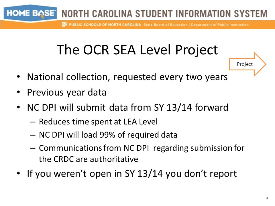 Updating CRDC Screens in PS Download the Federal OCR Documents Must be answered at the LEA level and for all public schools that will be reported to the OCR Questions may not be available for update based on how a preceding question was answered Fields left blank will report as 'No' Data is static 25 PS Setup