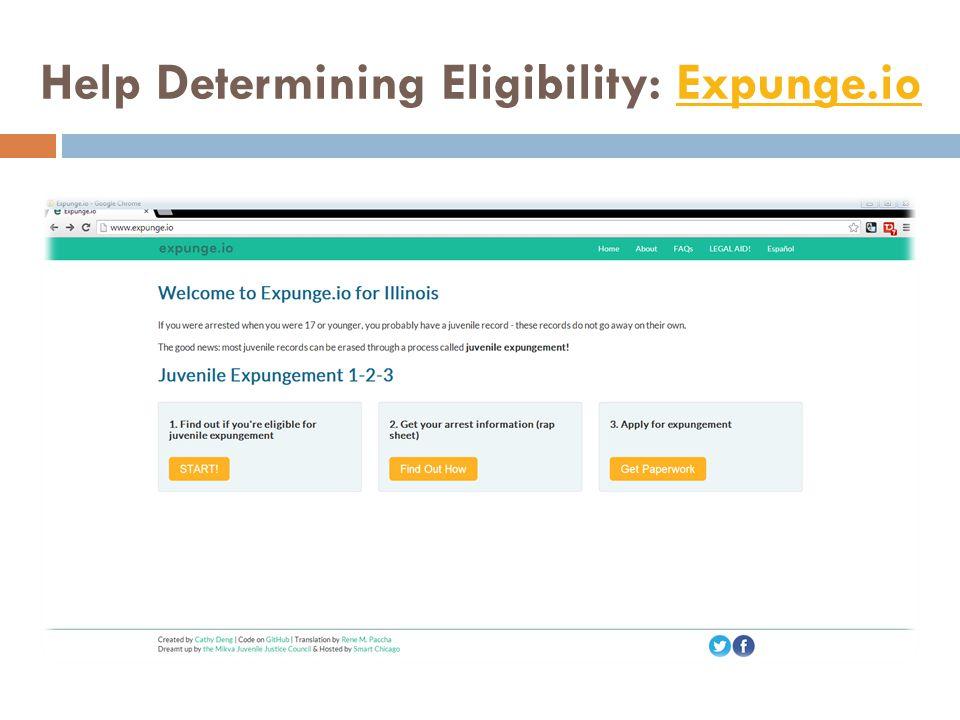 Help Determining Eligibility: Expunge.ioExpunge.io