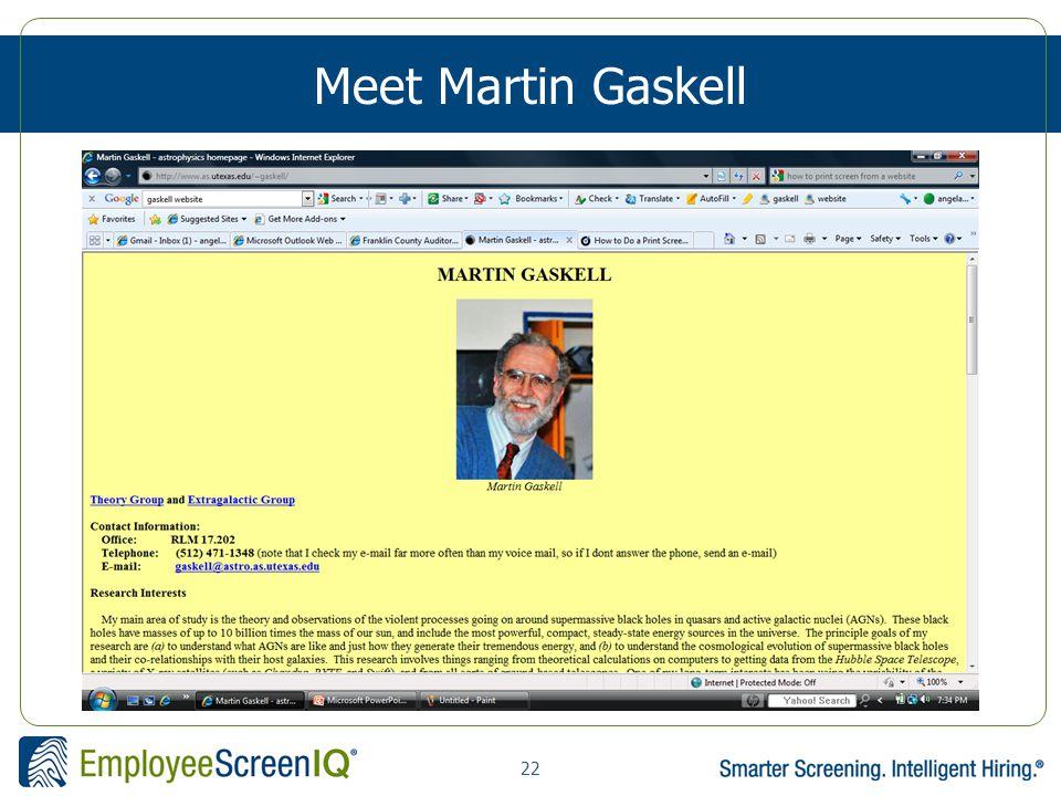 22 Meet Martin Gaskell