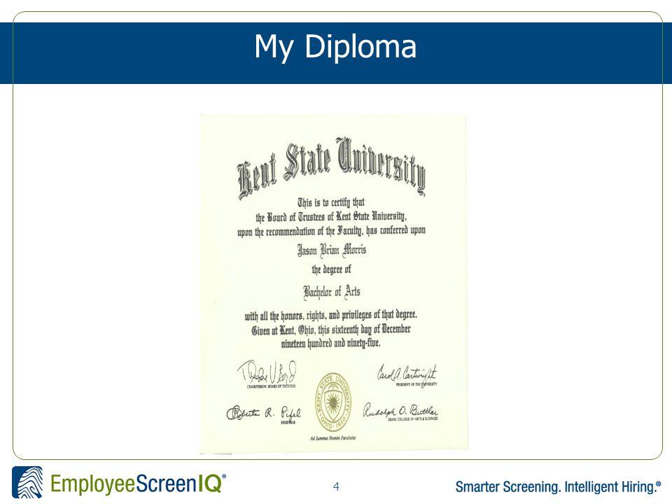 4 My Diploma