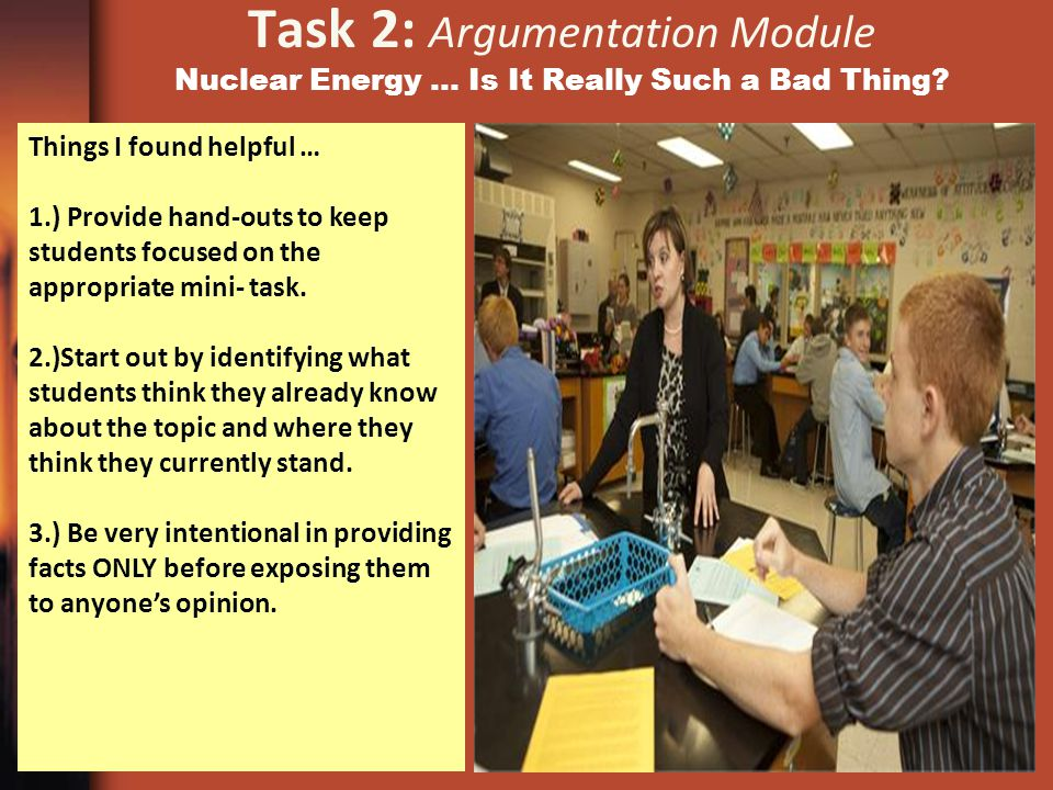 Task 2: Argumentation Module Nuclear Energy … Is It Really Such a Bad Thing.