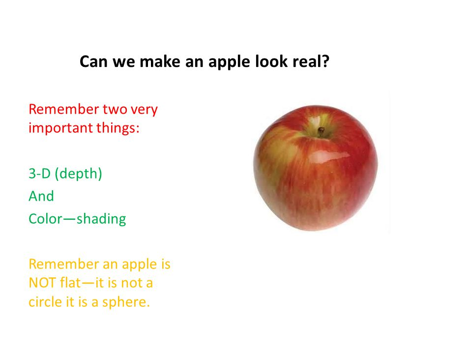 Can we make an apple look real.