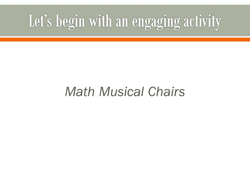 Math Musical Chairs