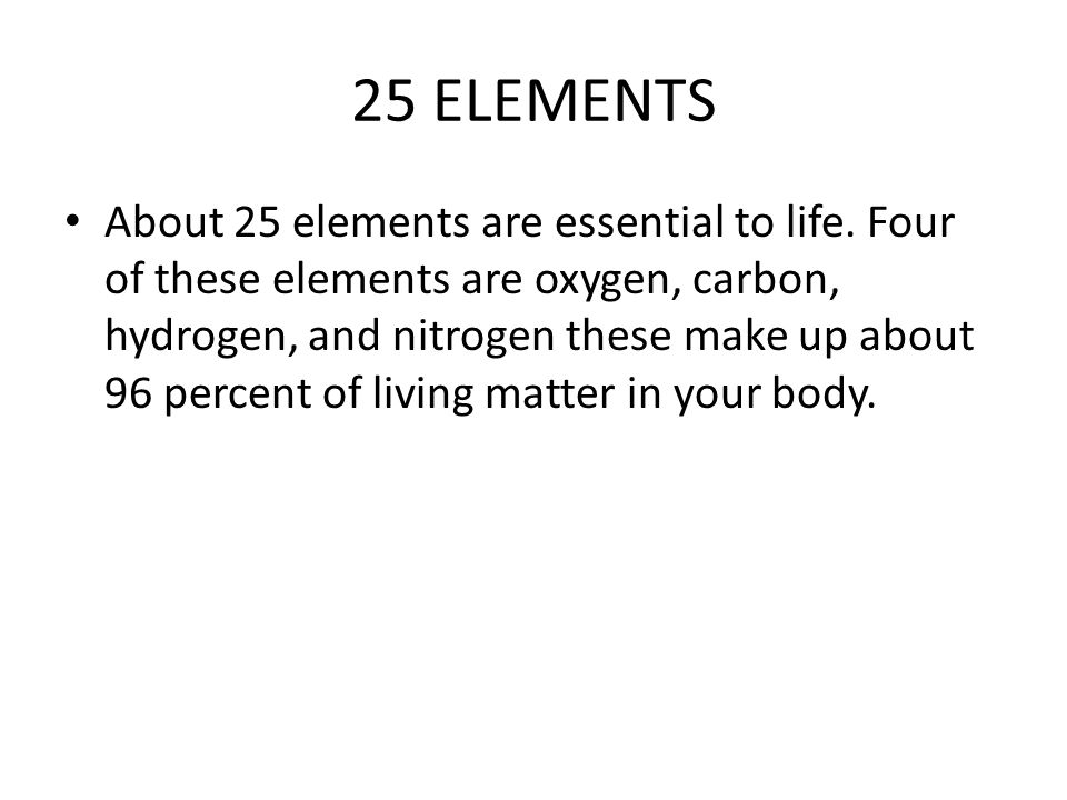 The 25 elements.