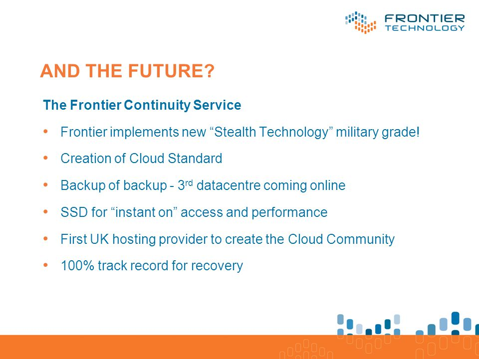 Application/Software Database/Processes/ Platform Servers, Storage, Network/Infrastructure AND THE FUTURE.