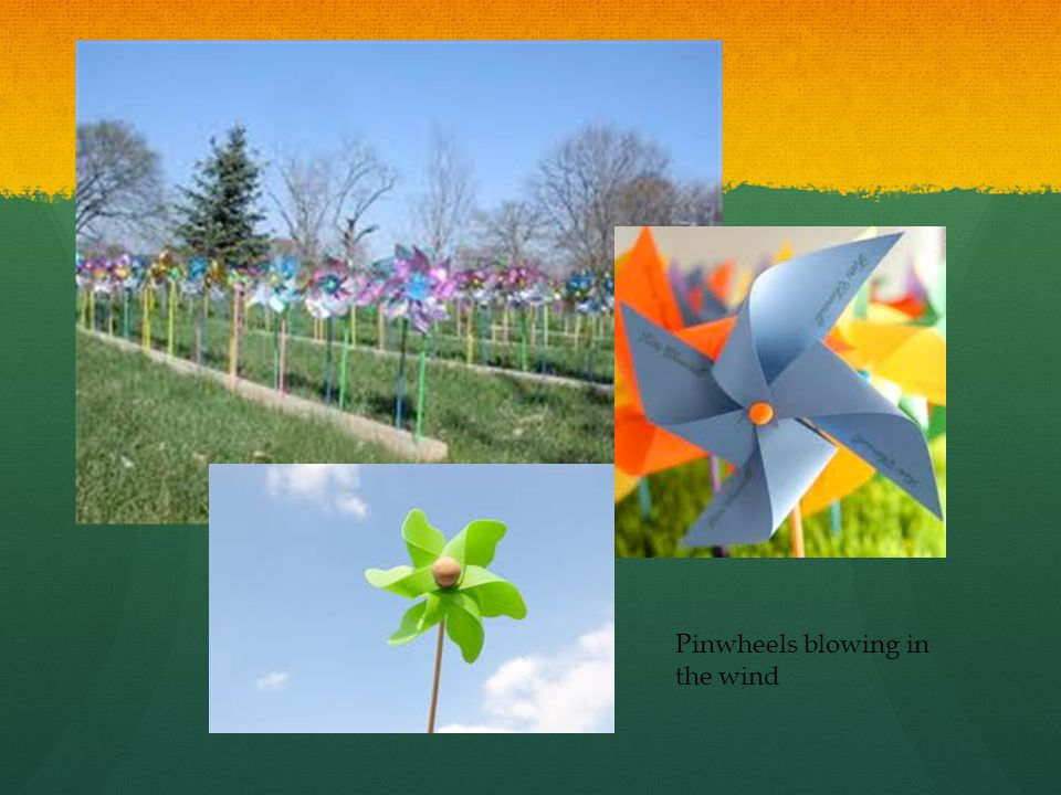 Pinwheels blowing in the wind