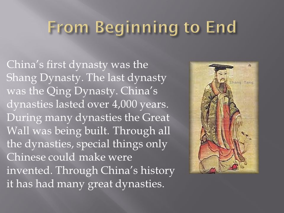 The Qing Dynasty lasted for 271 years.The Qing Dynasty was the last dynasty of china.