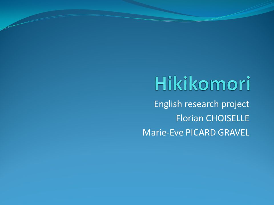 Outline Introduction What is a hikikomori .