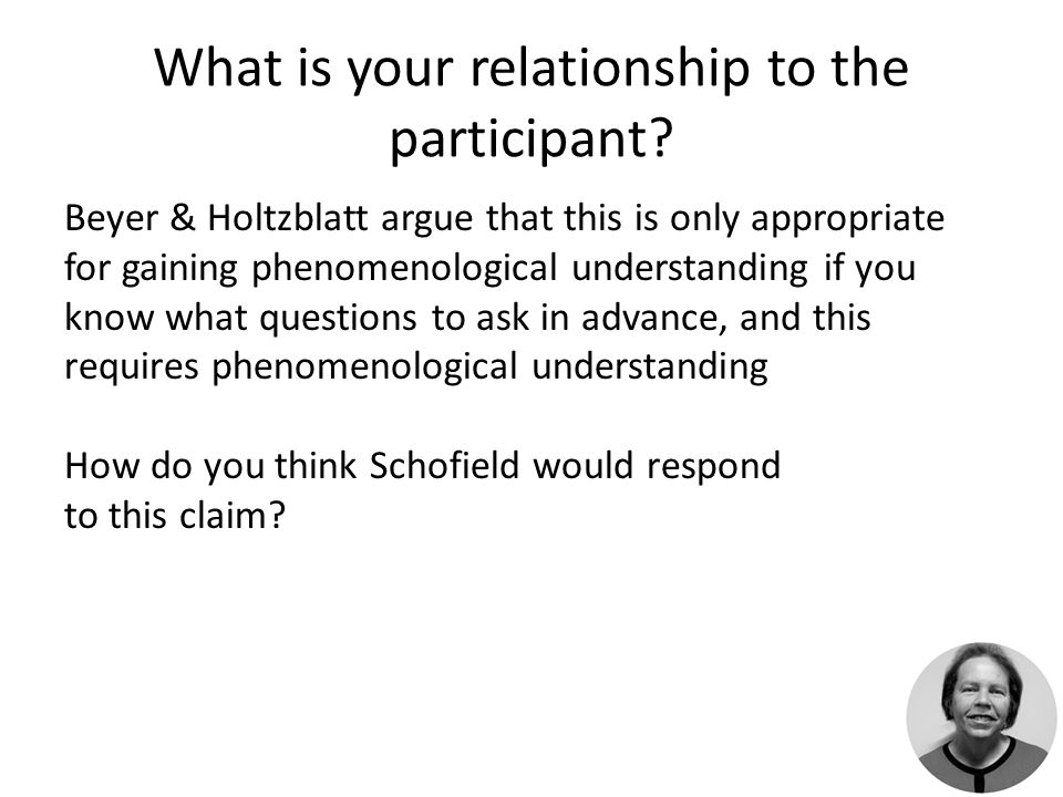 What is your relationship to the participant.