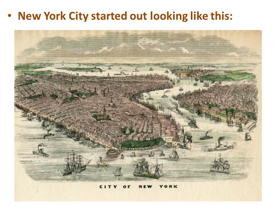 New York City started out looking like this: