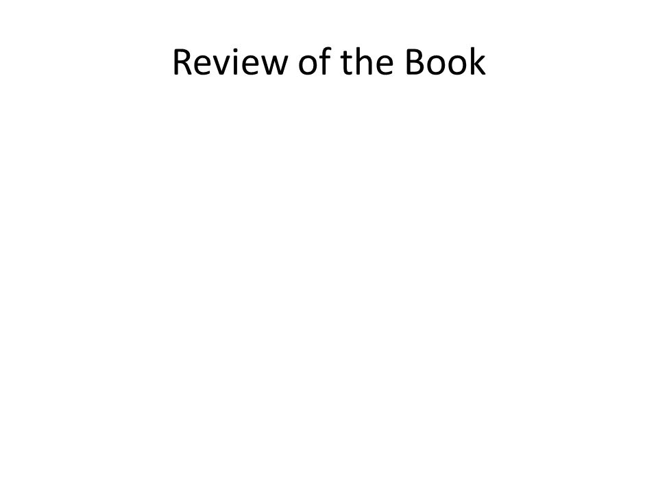 Review of the Book