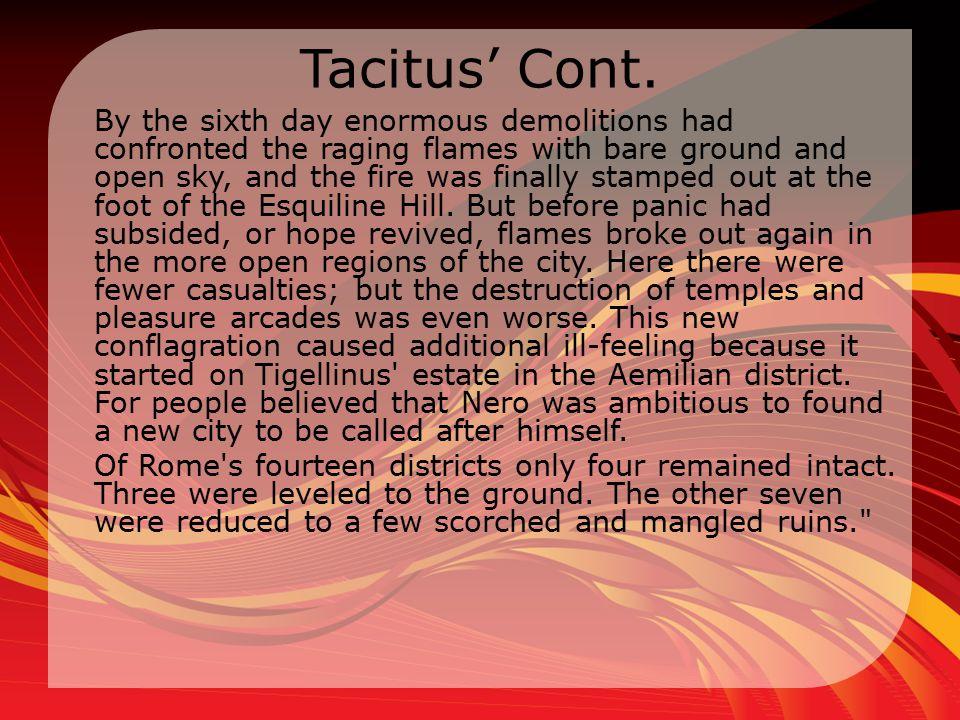 Tacitus' Cont.
