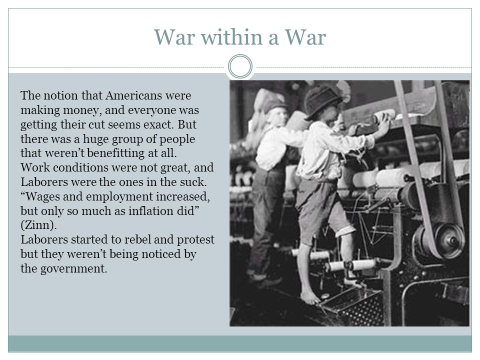 War within a War The notion that Americans were making money, and everyone was getting their cut seems exact.