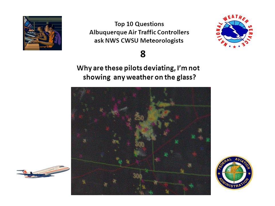 Top 10 Questions Albuquerque Air Traffic Controllers ask NWS CWSU Meteorologists 9 Why weren't these storms included on the CCFP