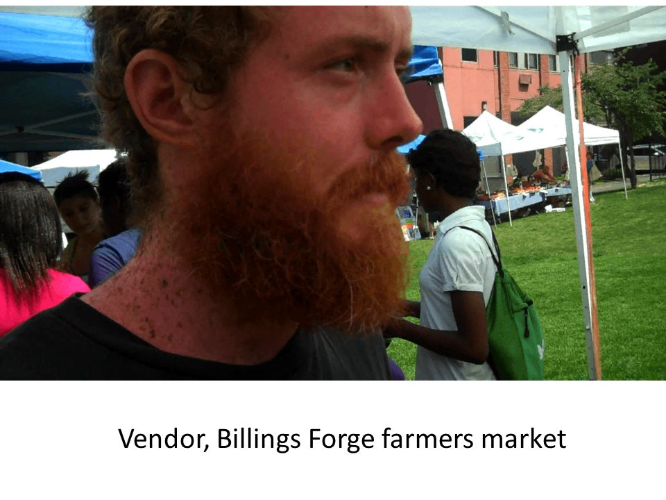 Vendor, Billings Forge farmers market