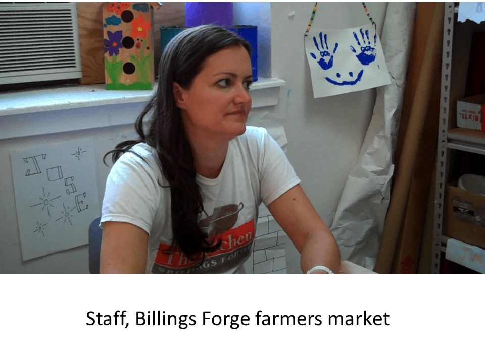 Staff, Billings Forge farmers market