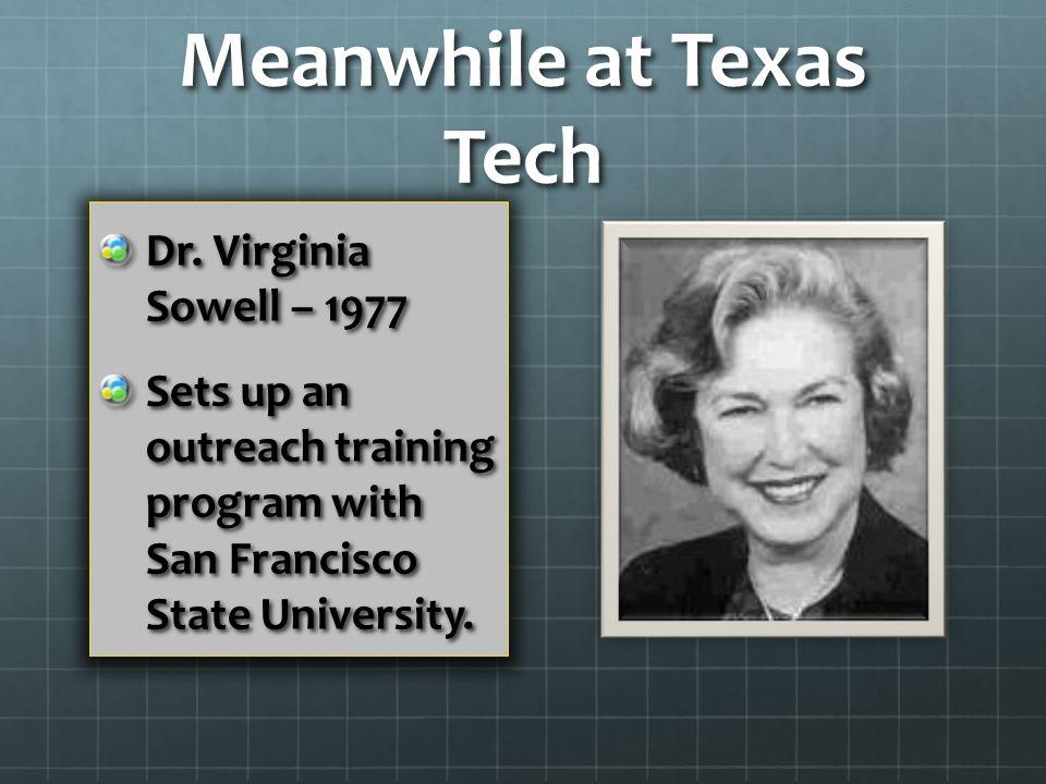 Meanwhile at Texas Tech Dr.