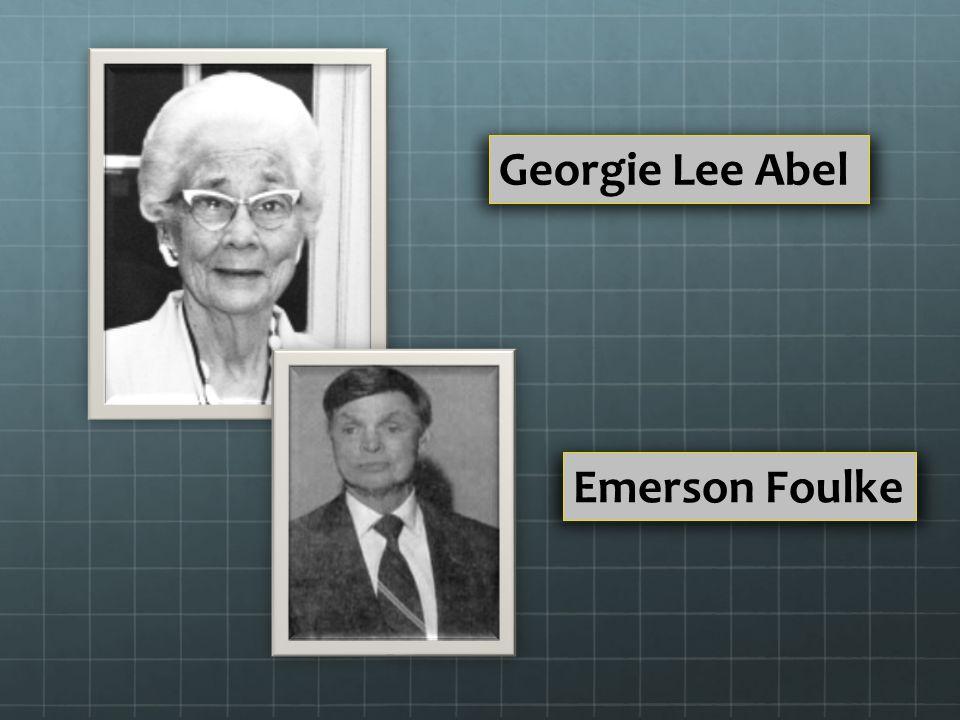 Georgie Lee Abel Emerson Foulke
