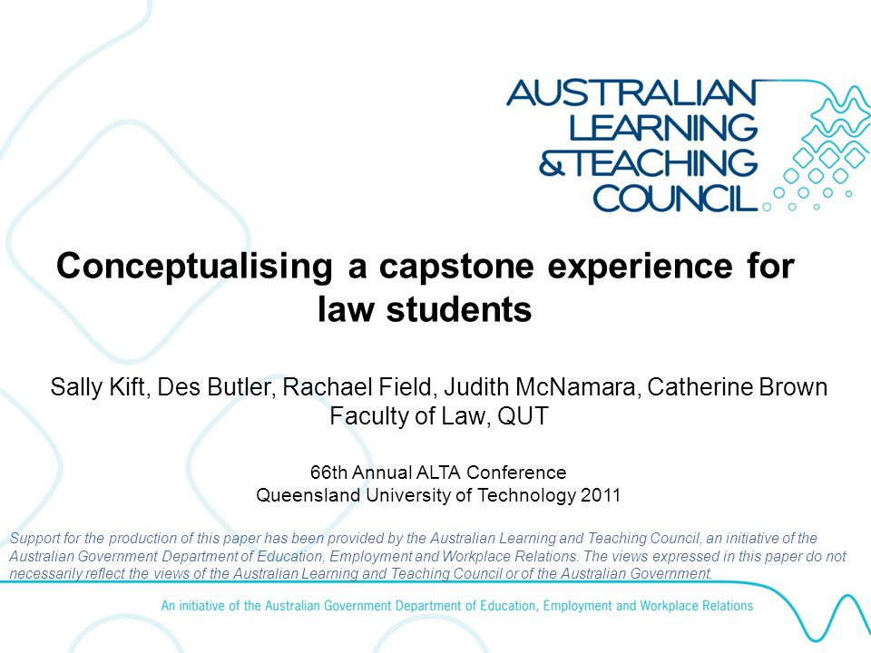 Diversity An effective capstone experience responds to diversity through: Enhancement of students' capacities to engage with diversity in their future professional lives, and to recognise and respond appropriately to potential discrimination; Being accessible by, and inclusive of, all students, accounting for the diverse learning and professional needs of each student, including the need to make informed decisions about diverse career choices; and Accommodating different programs and program progression.