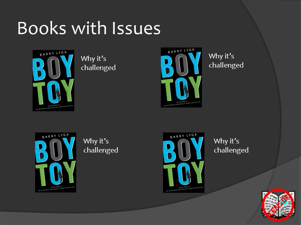 Books with Issues Why it's challenged