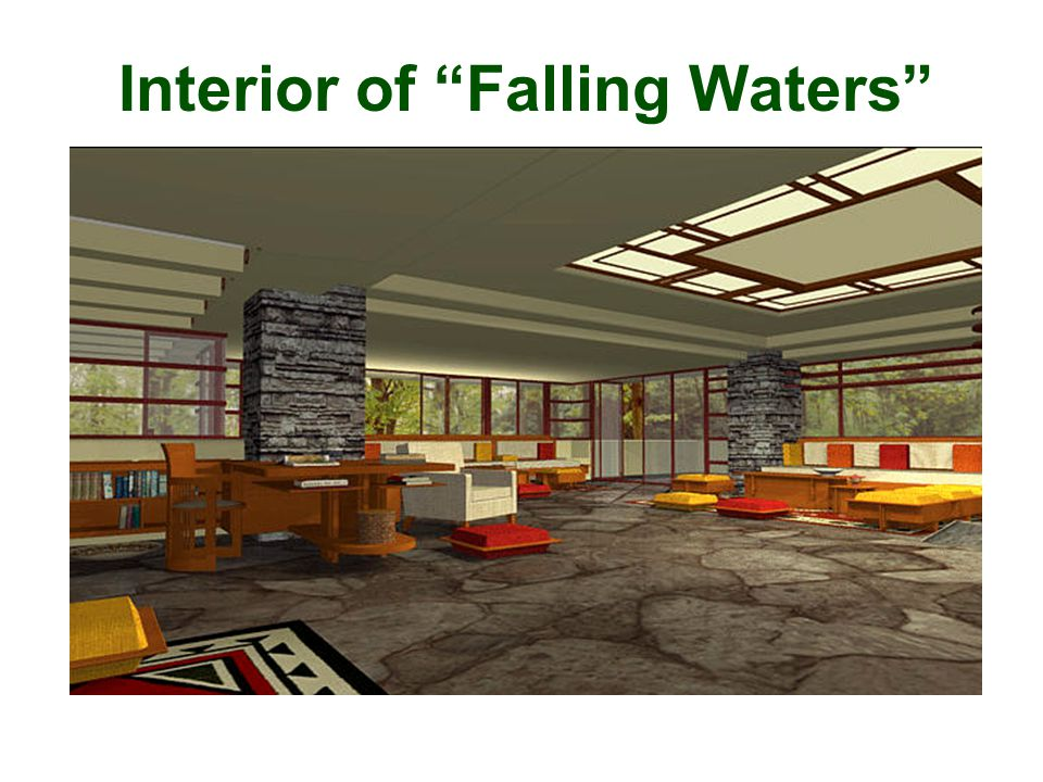 "Interior of ""Falling Waters"""