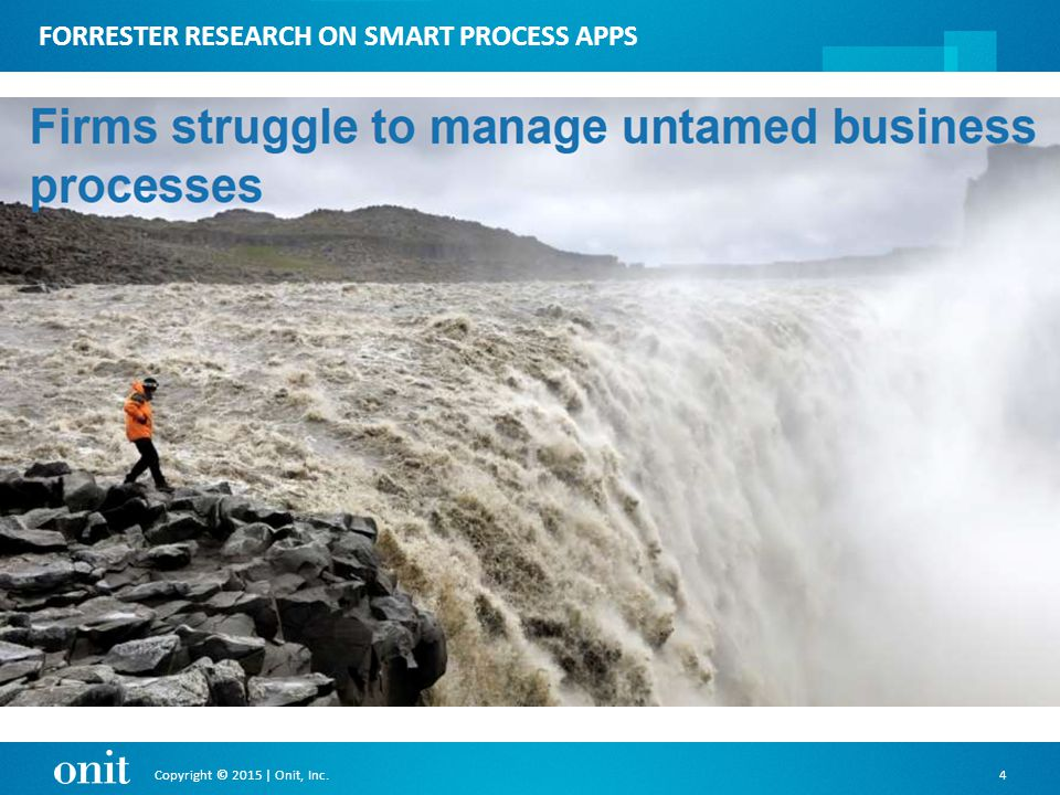 Copyright © 2015 | Onit, Inc.4 FORRESTER RESEARCH ON SMART PROCESS APPS