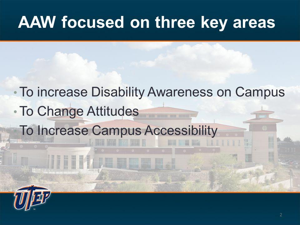 AAW focused on three key areas 2
