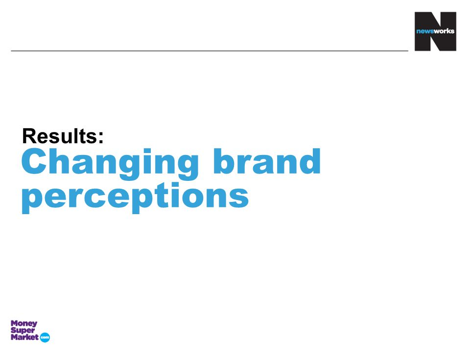 Changing brand perceptions Results: