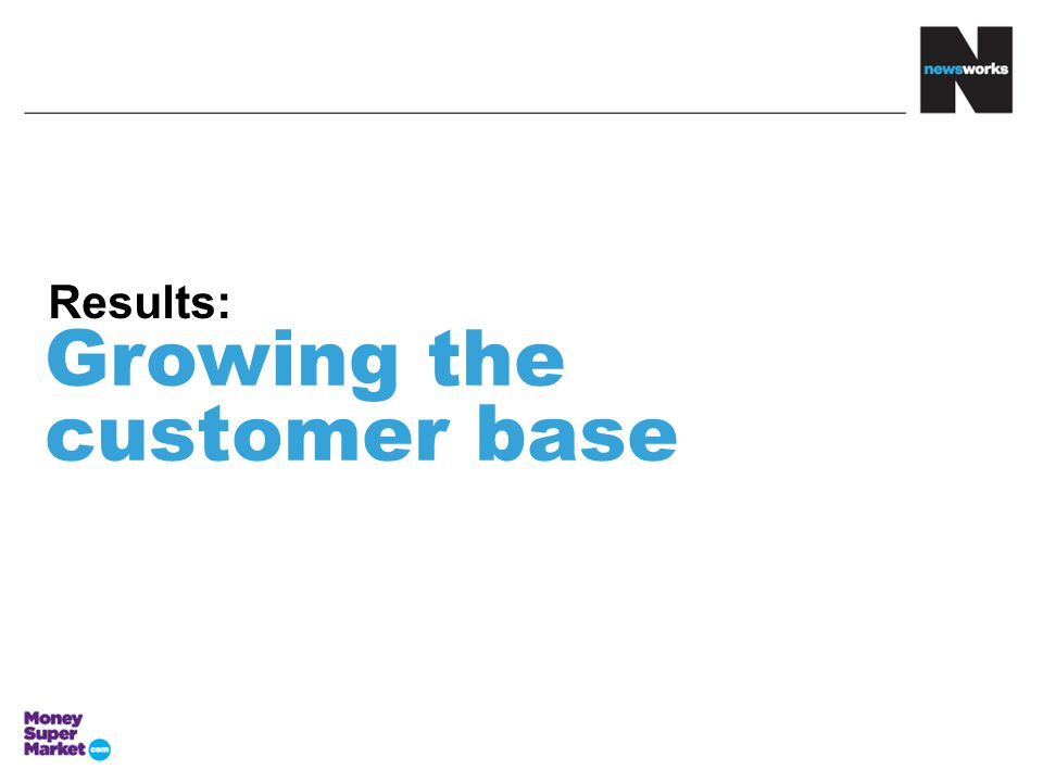 Growing the customer base Results: