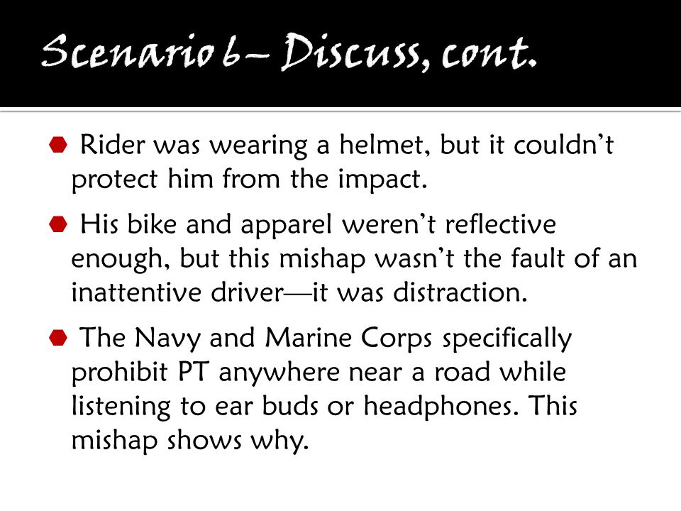  Rider was wearing a helmet, but it couldn't protect him from the impact.
