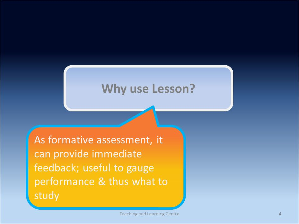 Why use Lesson.