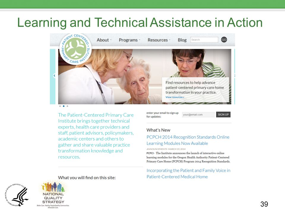Learning and Technical Assistance in Action 39