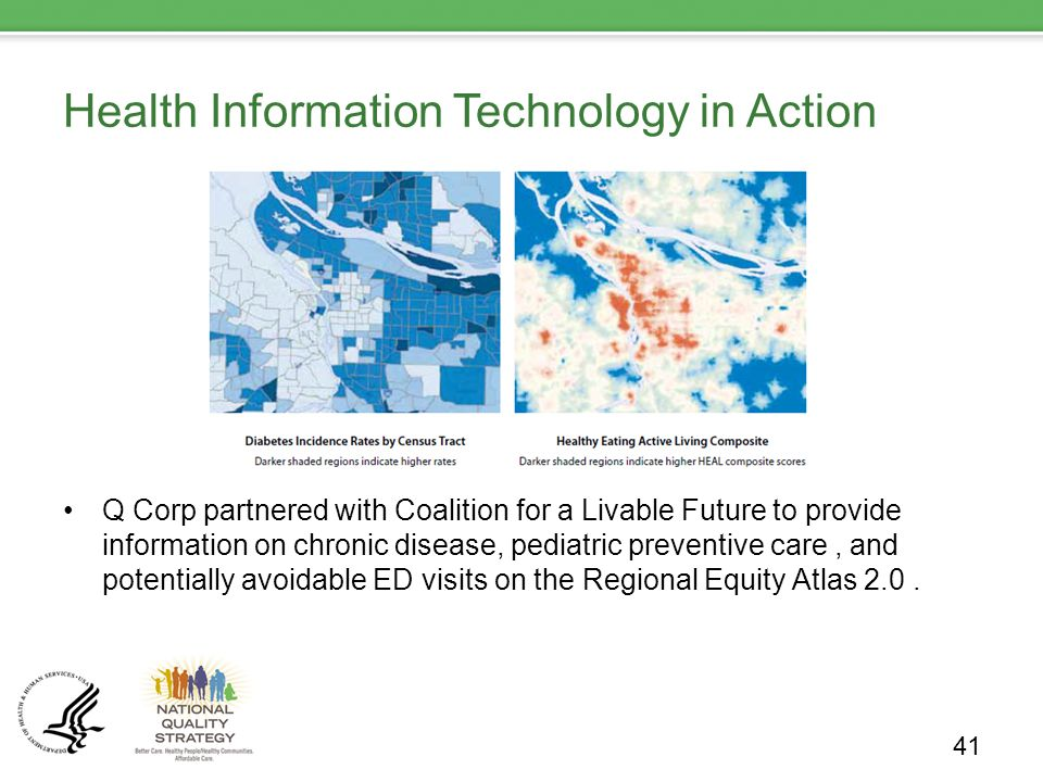 Health Information Technology in Action Q Corp partnered with Coalition for a Livable Future to provide information on chronic disease, pediatric preventive care, and potentially avoidable ED visits on the Regional Equity Atlas 2.0.