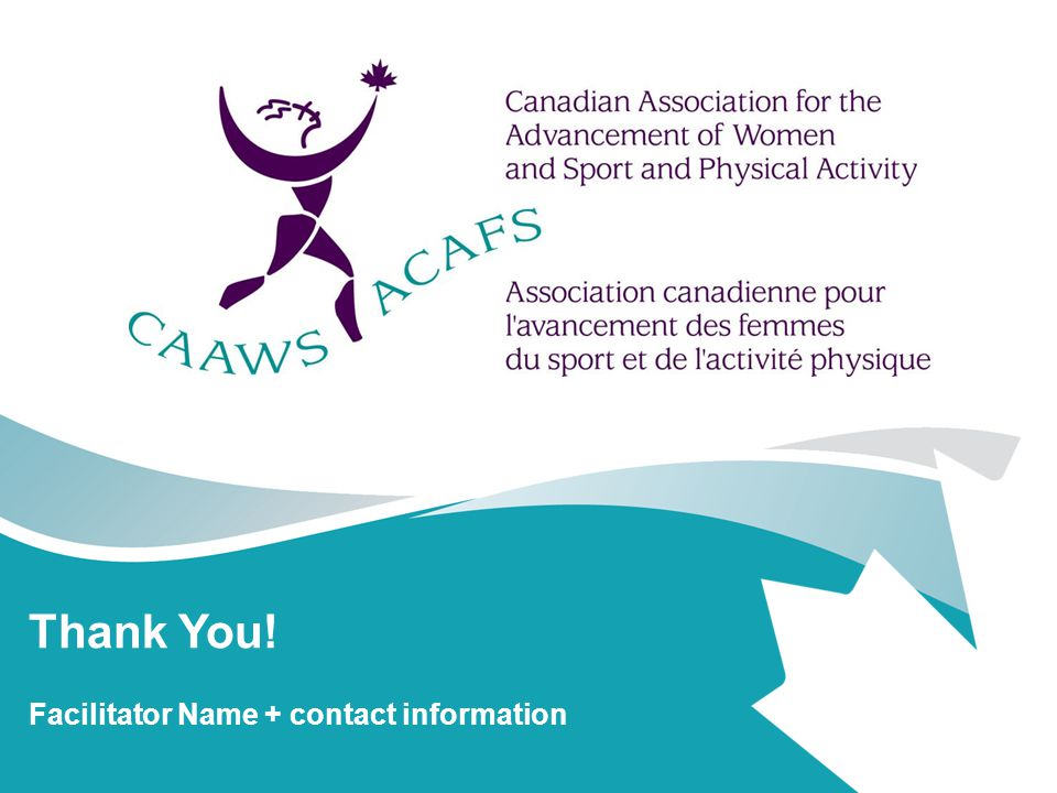 Thank You! Facilitator Name + contact information