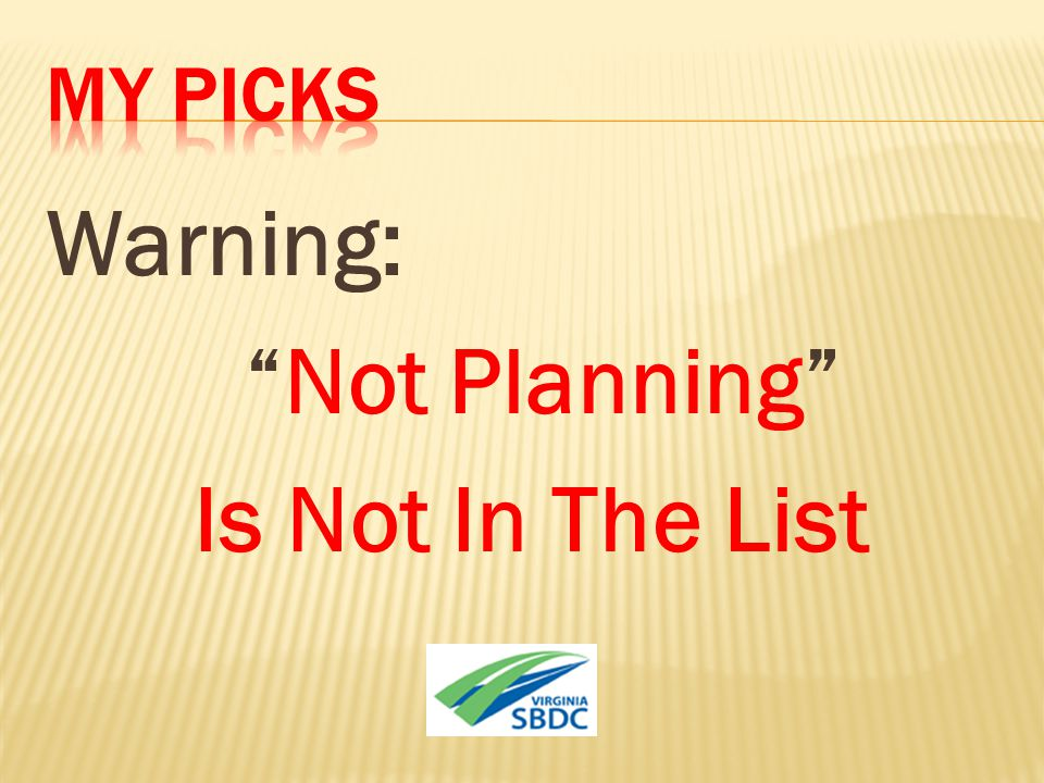 "Warning: ""Not Planning"" Is Not In The List"