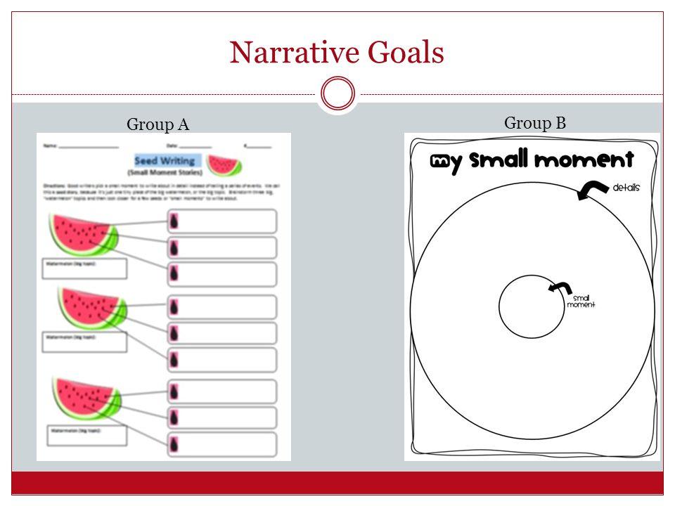 Narrative Goals Group A Group B